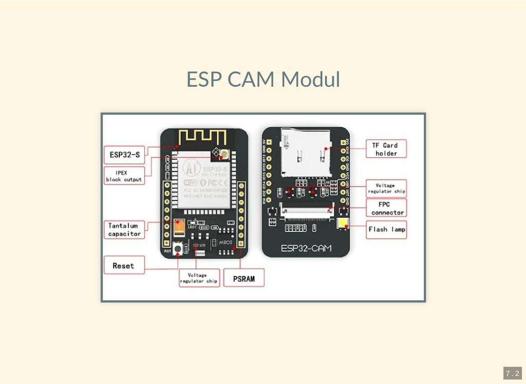 ESP CAM Modul 7 . 2