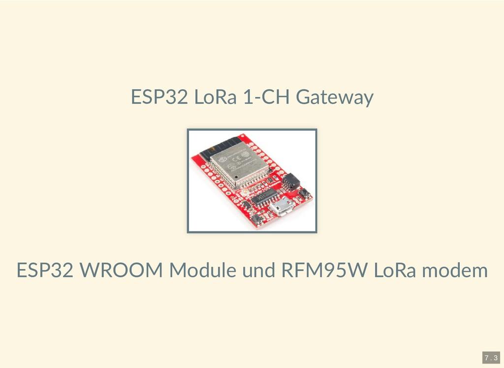 ESP32 LoRa 1-CH Gateway ESP32 WROOM Module und ...
