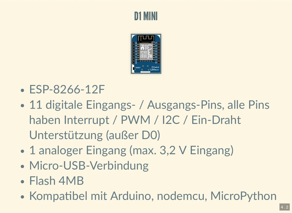 D1 MINI D1 MINI ESP-8266-12F 11 digitale Eingan...