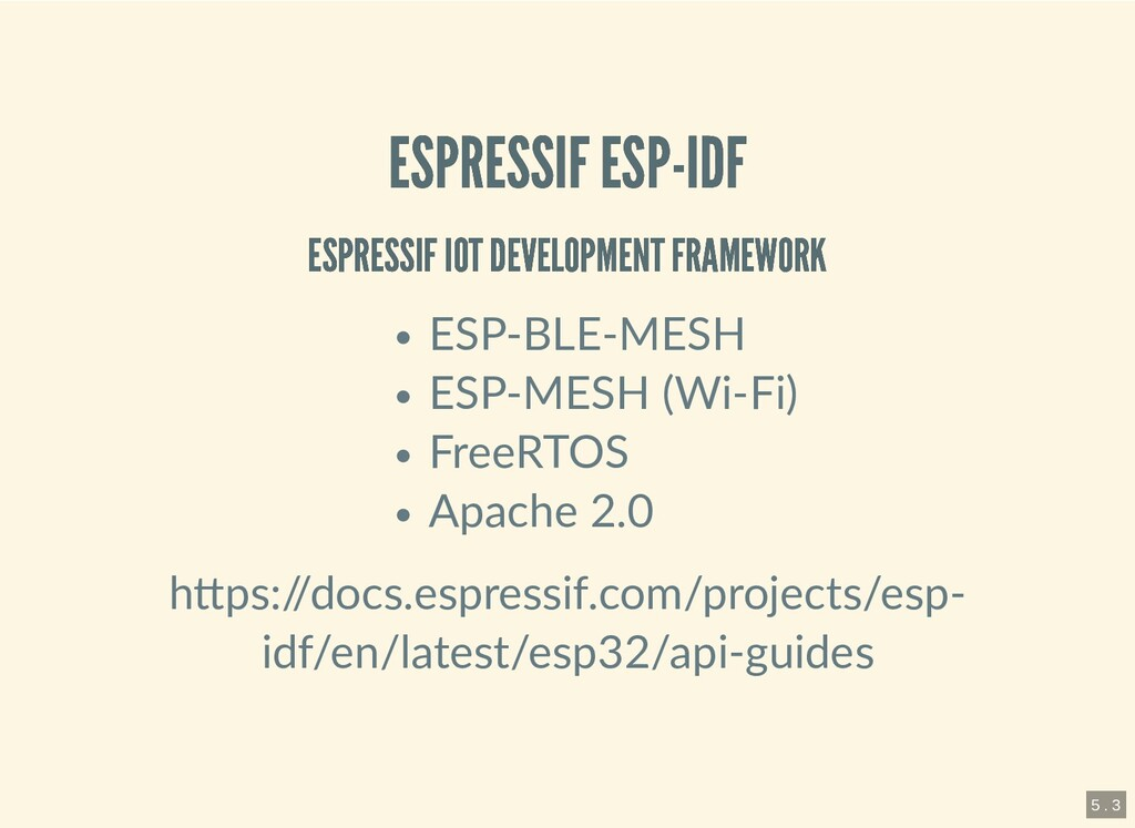 ESPRESSIF ESP-IDF ESPRESSIF ESP-IDF ESPRESSIF I...