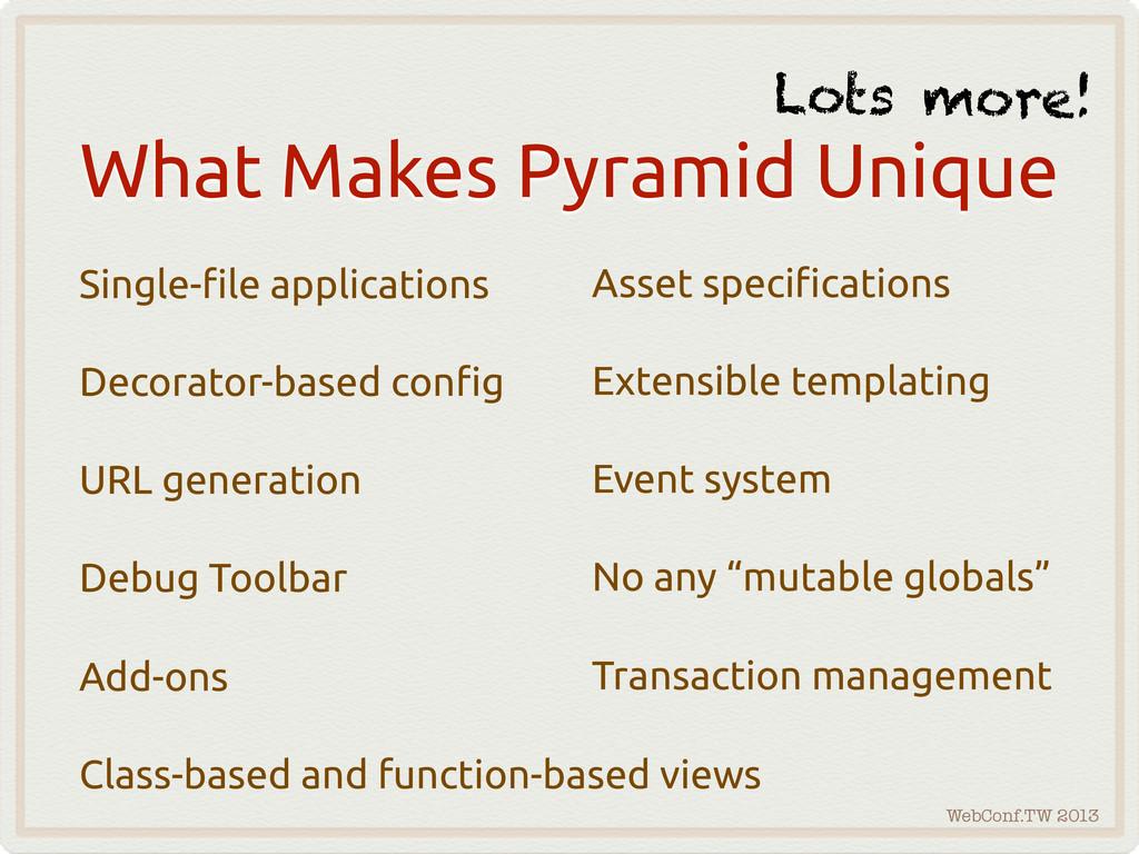 WebConf.TW 2013 What Makes Pyramid Unique Singl...