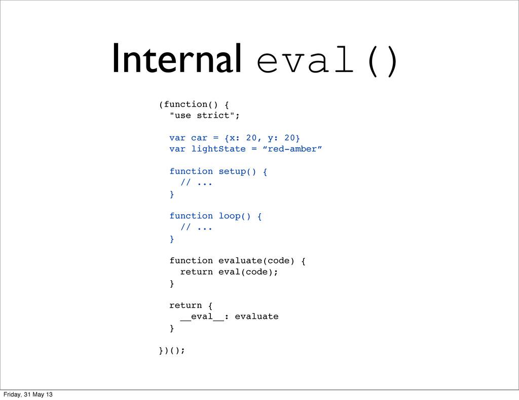 """Internal eval() (function() { """"use strict""""; var..."""