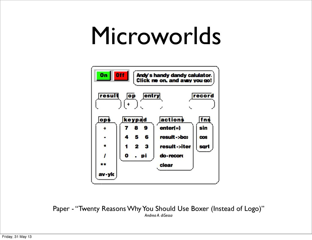 "Microworlds Paper - ""Twenty Reasons Why You Sho..."