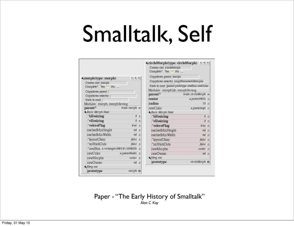 "Smalltalk, Self Paper - ""The Early History of S..."
