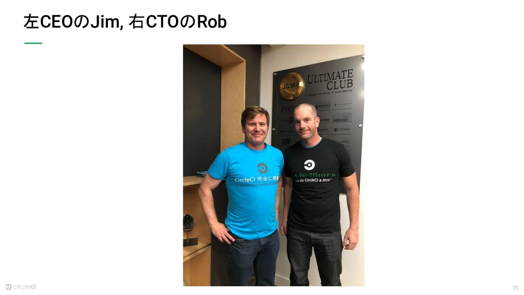 71 左CEOのJim, 右CTOのRob