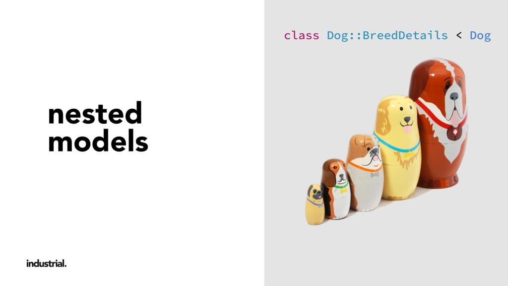 nested models class Dog::BreedDetails < Dog