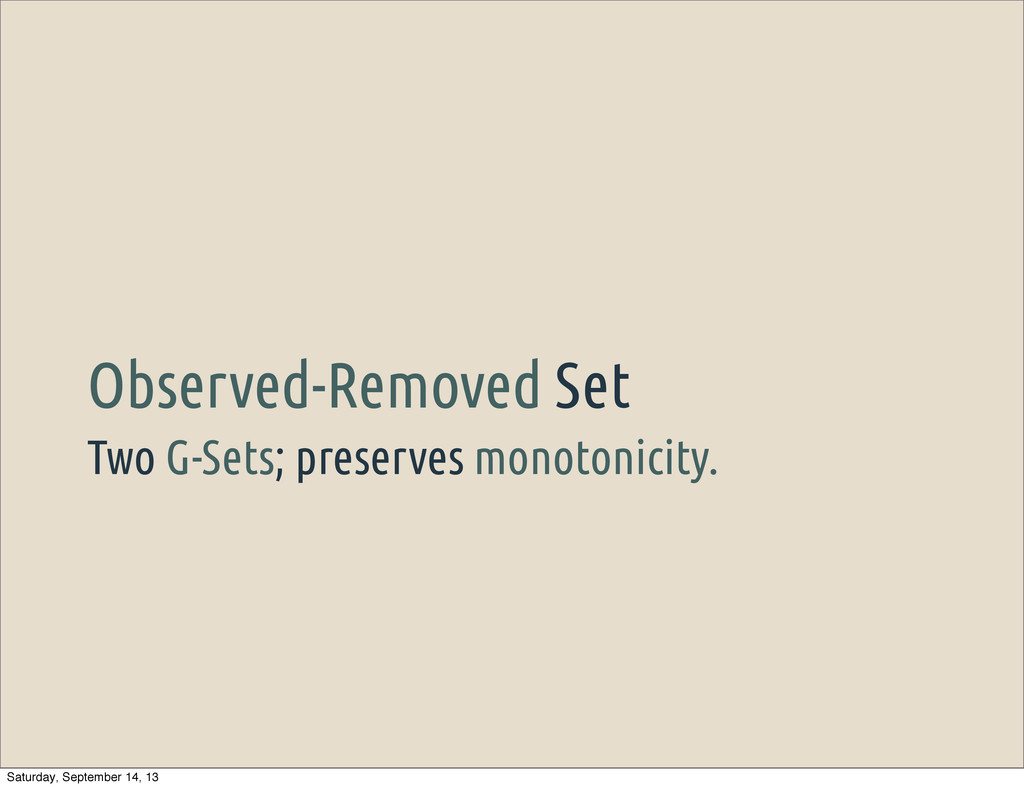 Two G-Sets; preserves monotonicity. Observed-Re...