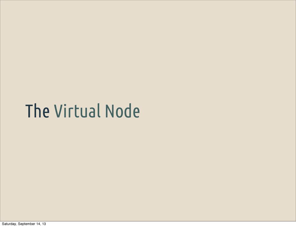 The Virtual Node Saturday, September 14, 13
