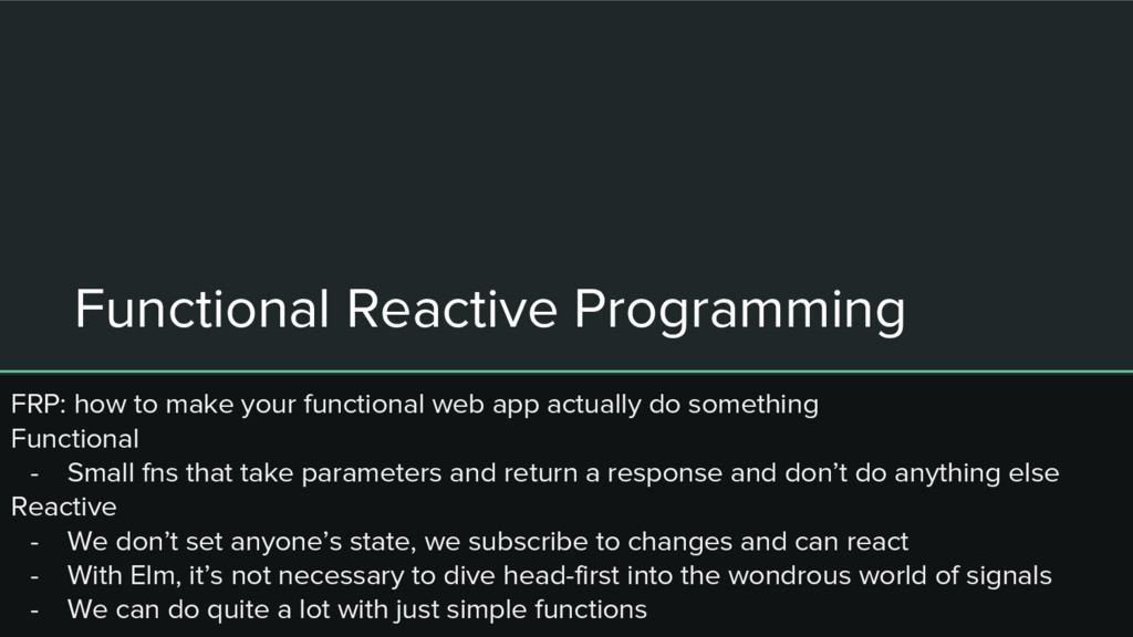 Functional Reactive Programming FRP: how to mak...