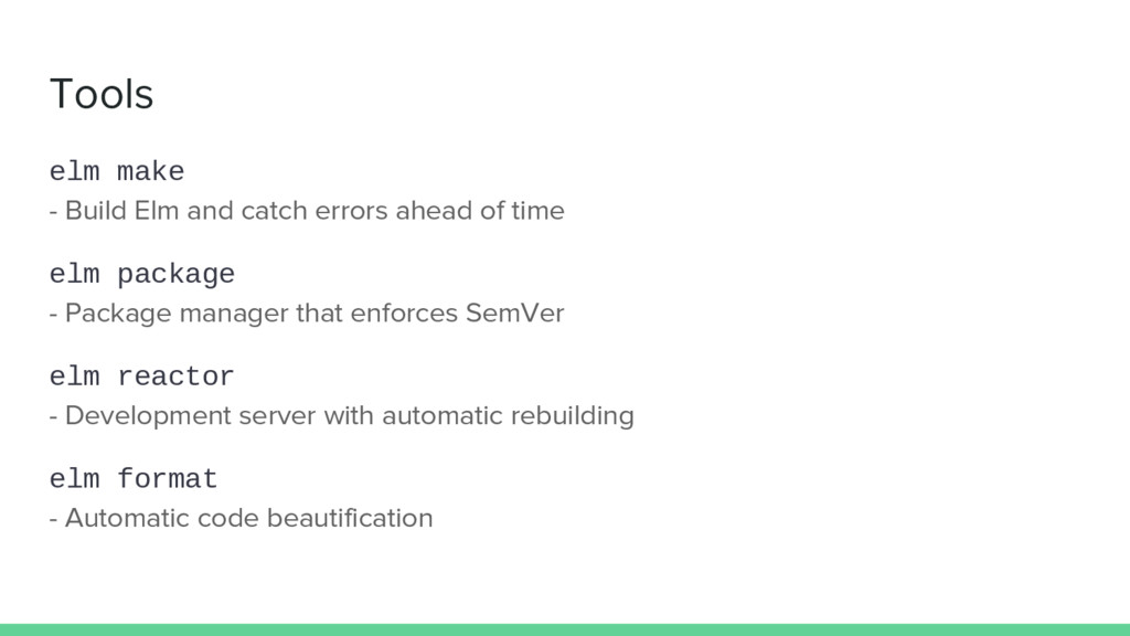 Tools elm make - Build Elm and catch errors ahe...