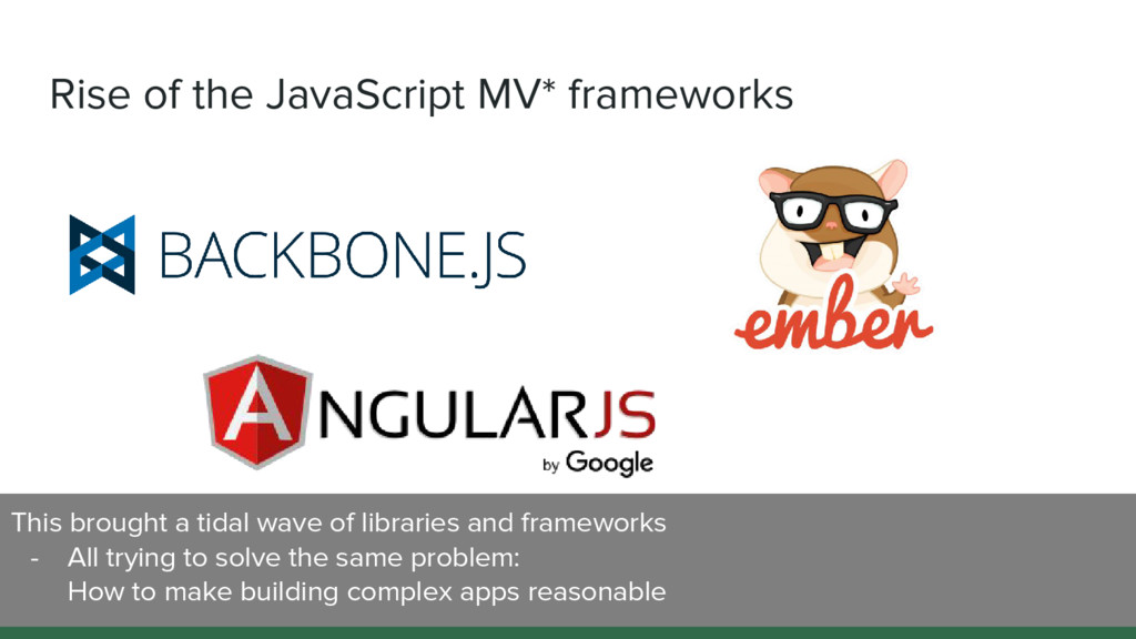 Rise of the JavaScript MV* frameworks This brou...