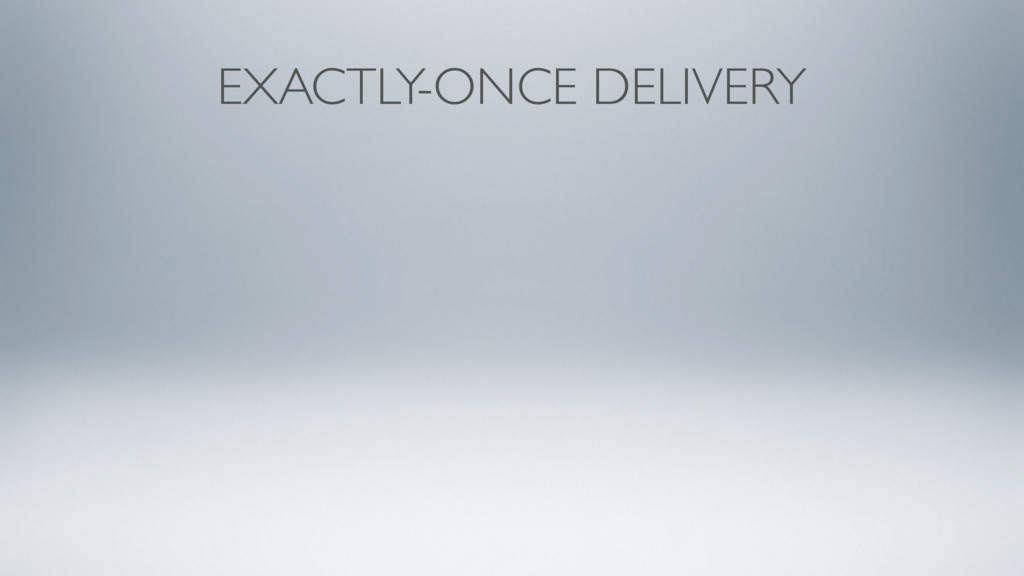 EXACTLY-ONCE DELIVERY