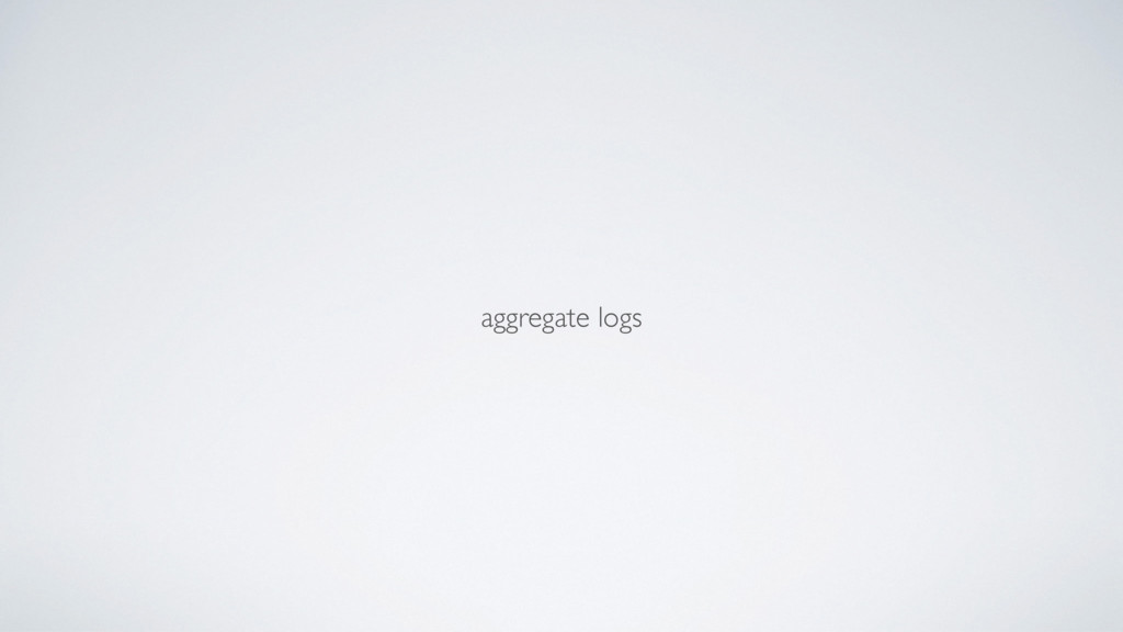 aggregate logs