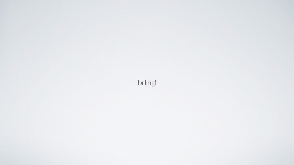 billing!