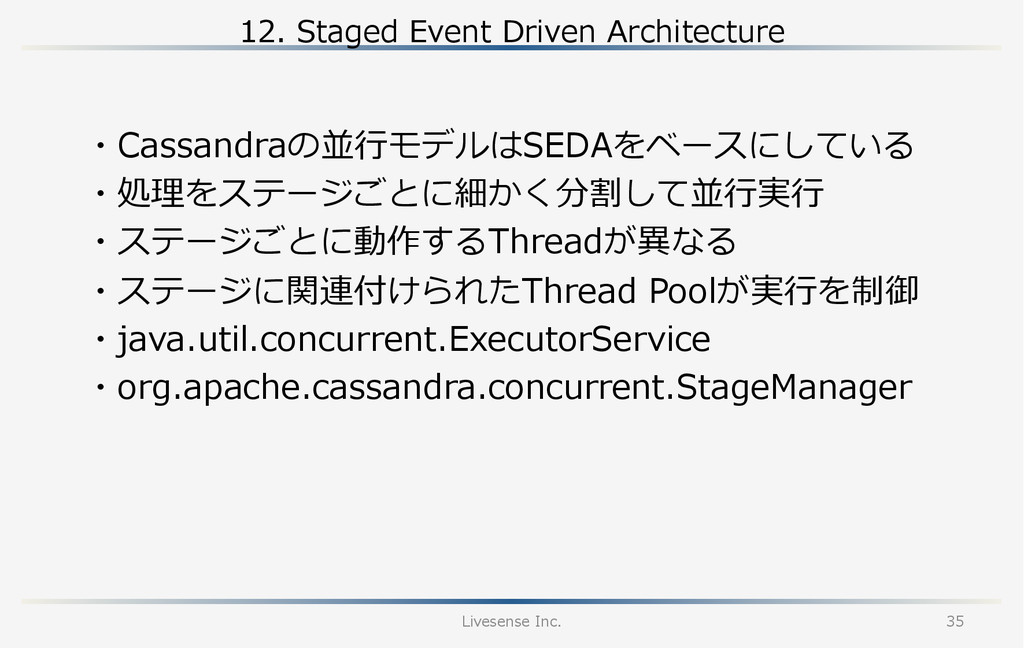12.  Staged  Event  Driven  Architecture Livese...