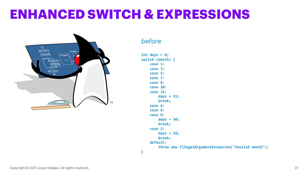 ENHANCED SWITCH & EXPRESSIONS Copyright © 2021 ...