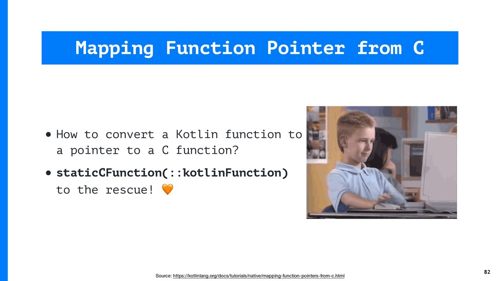 • How to convert a Kotlin function to a pointer...