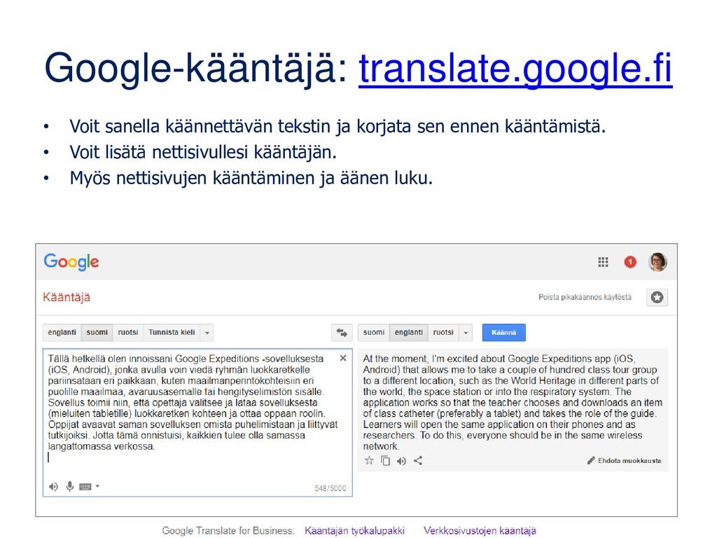 Googlen verkkohaku: www.google.fi 3/3 • Google ...
