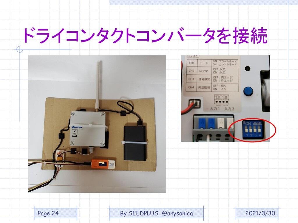 ドライコンタクトコンバータを接続 2021/3/30 Page 24 By SEEDPLUS ...