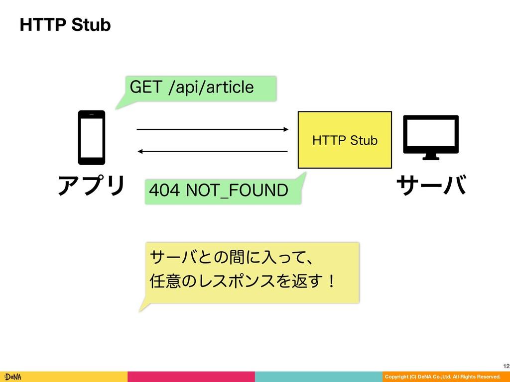 HTTP Stub 12 Copyright (C) DeNA Co.,Ltd. All Ri...