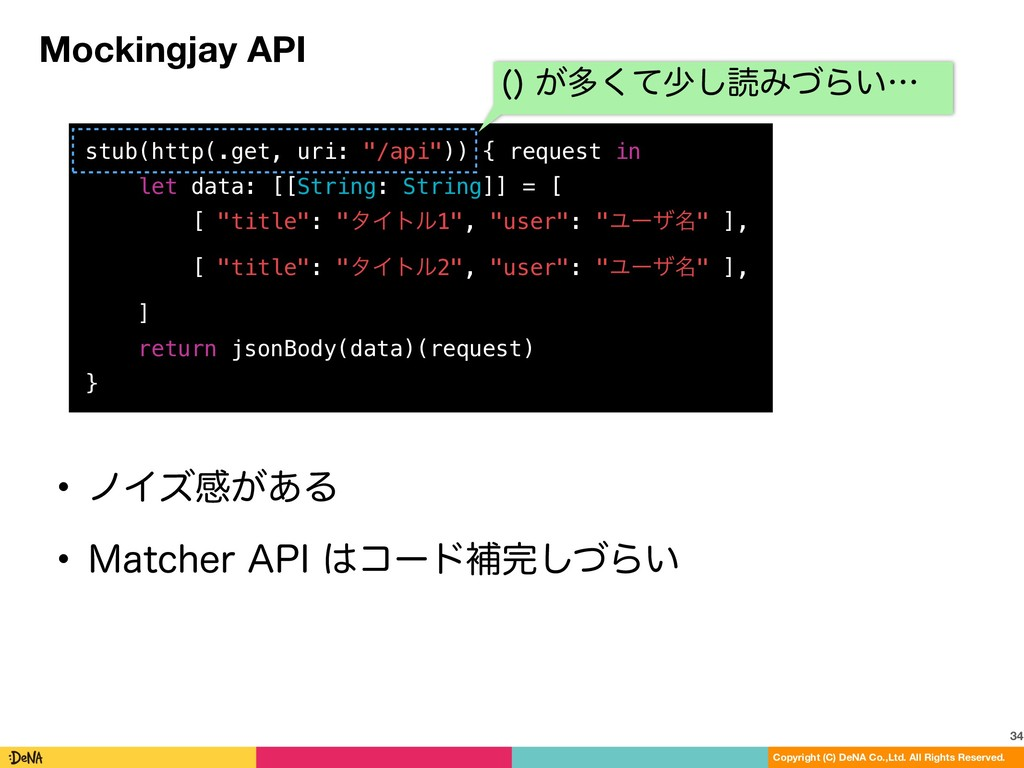 Mockingjay API 34 Copyright (C) DeNA Co.,Ltd. A...