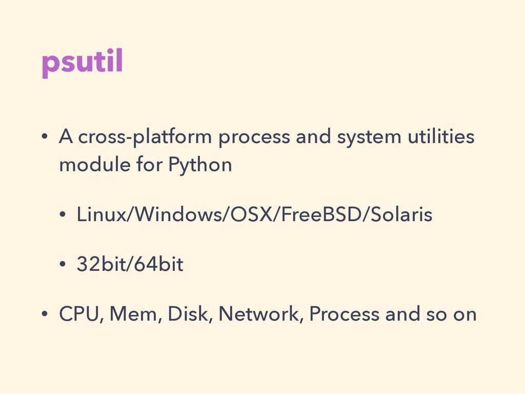 psutil • A cross-platform process and system ut...