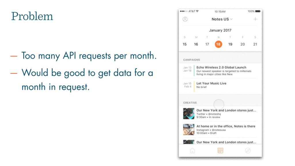 Problem — Too many API requests per month. — Wo...
