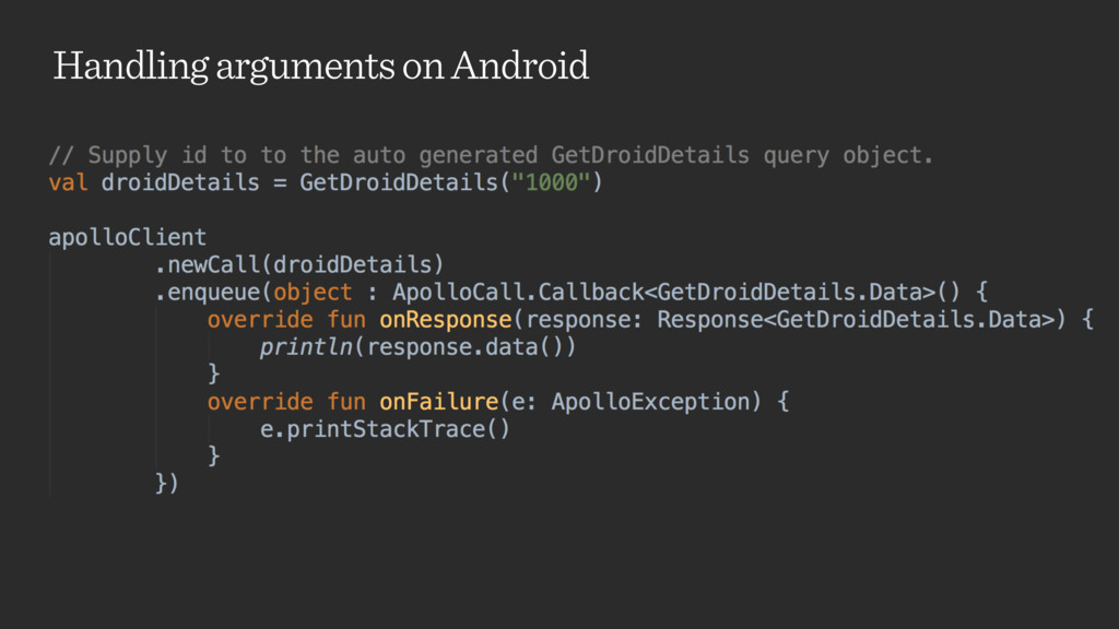 Handling arguments on Android