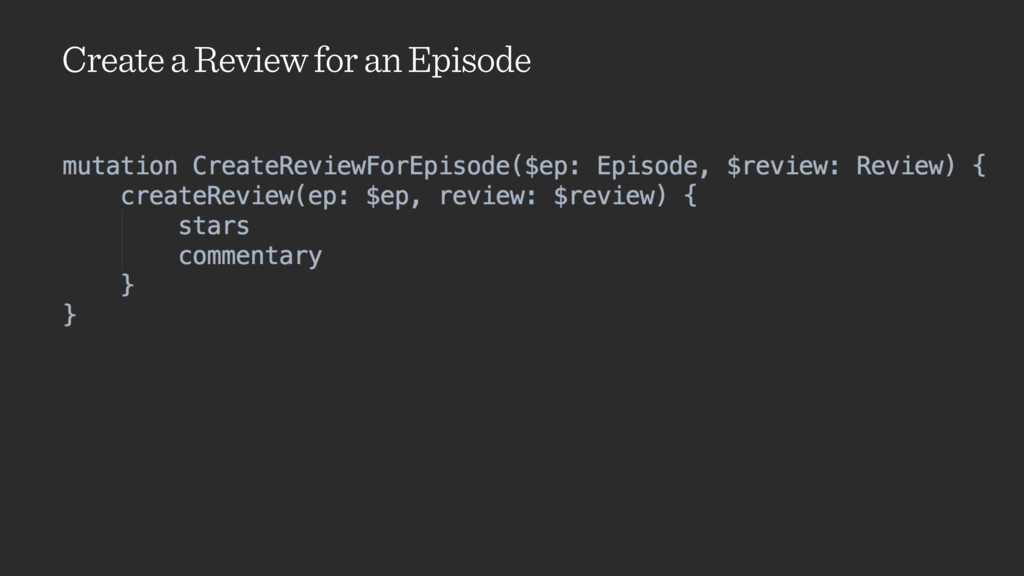 Create a Review for an Episode