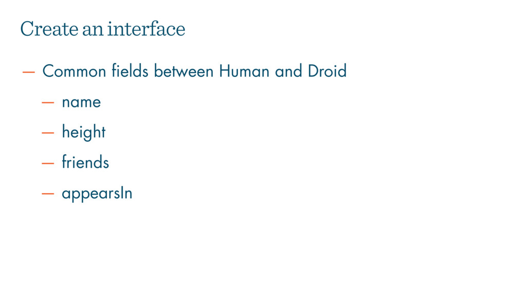 — Common fields between Human and Droid — name ...