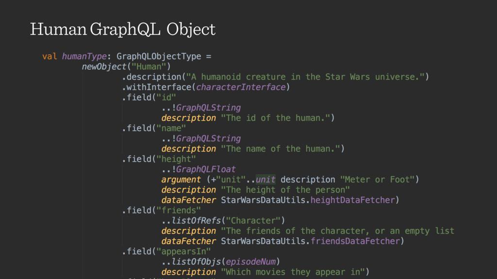 Human GraphQL Object