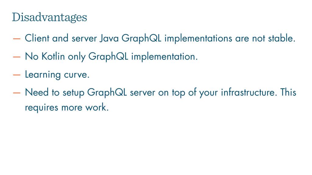 — Client and server Java GraphQL implementation...