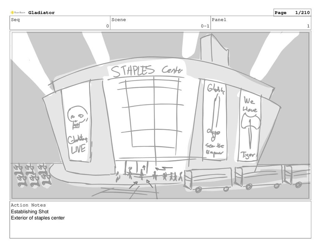 Seq 0 Scene 0-1 Panel 1 Action Notes Establishi...