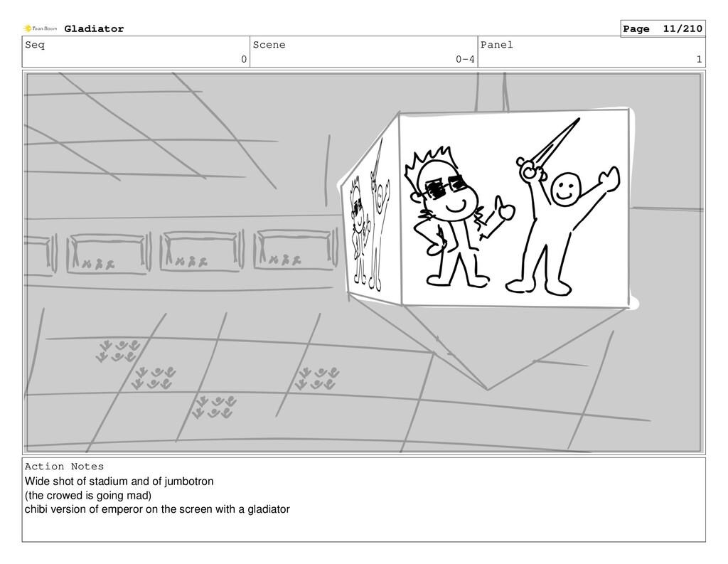 Seq 0 Scene 0-4 Panel 1 Action Notes Wide shot ...