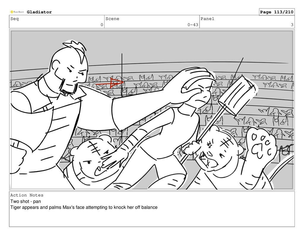 Seq 0 Scene 0-43 Panel 3 Action Notes Two shot ...