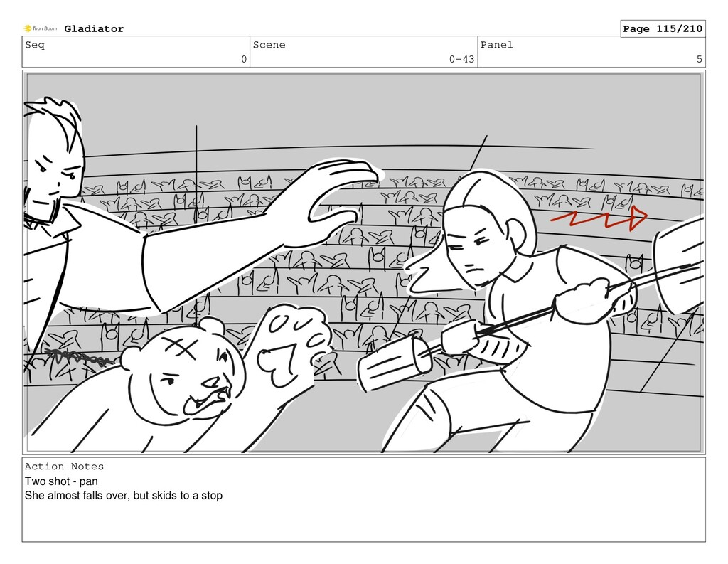 Seq 0 Scene 0-43 Panel 5 Action Notes Two shot ...