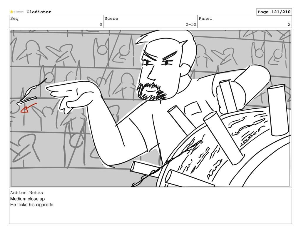 Seq 0 Scene 0-50 Panel 2 Action Notes Medium cl...
