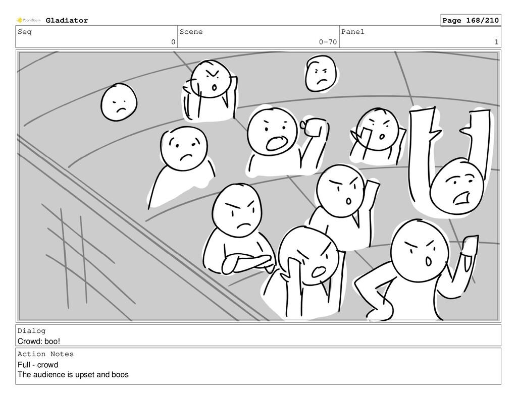 Seq 0 Scene 0-70 Panel 1 Dialog Crowd: boo! Act...