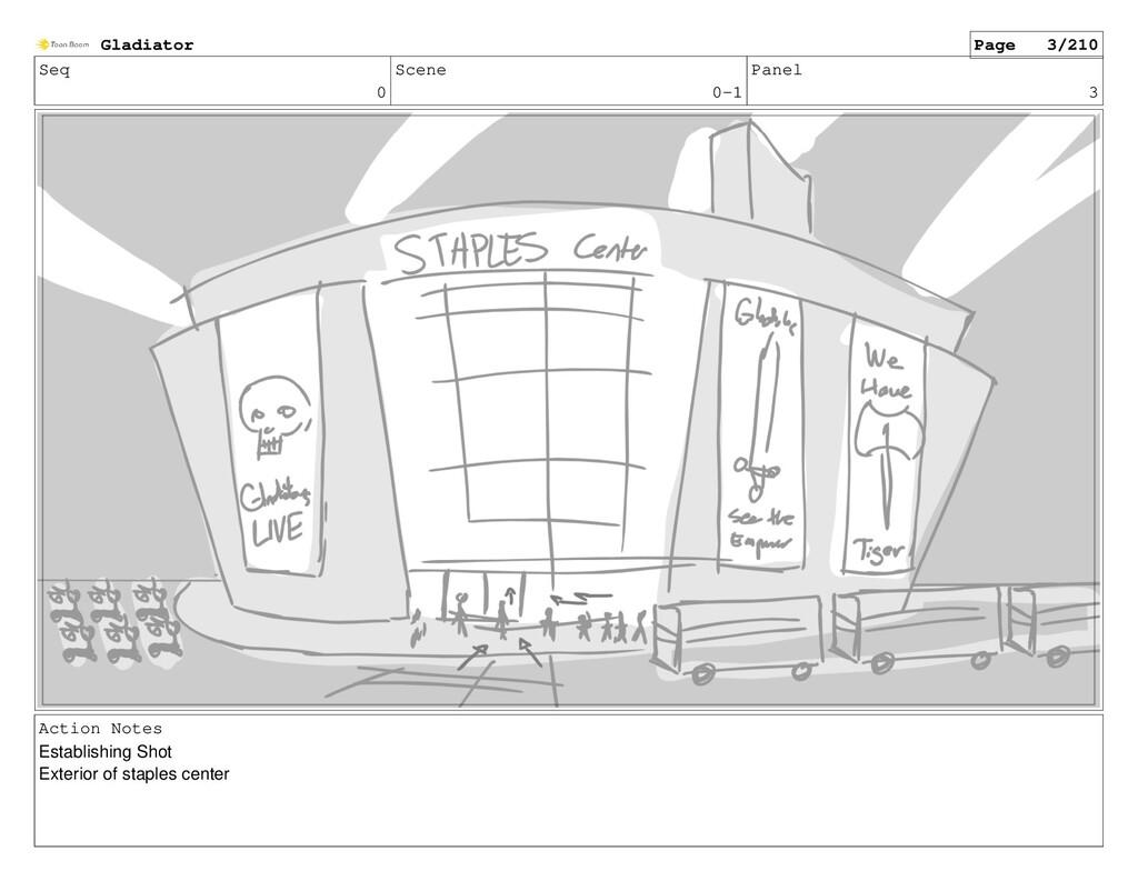 Seq 0 Scene 0-1 Panel 3 Action Notes Establishi...