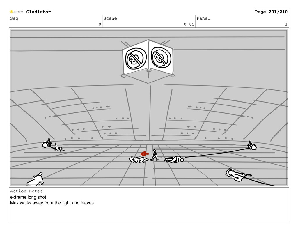 Seq 0 Scene 0-85 Panel 1 Action Notes extreme l...
