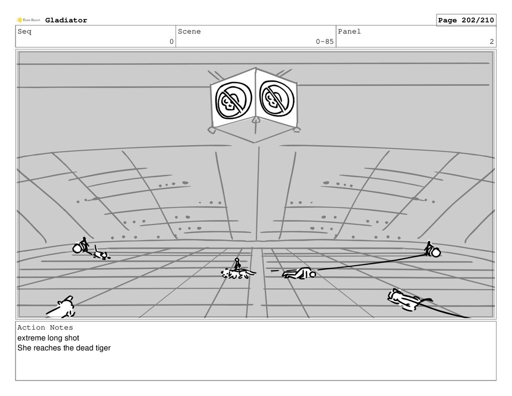 Seq 0 Scene 0-85 Panel 2 Action Notes extreme l...