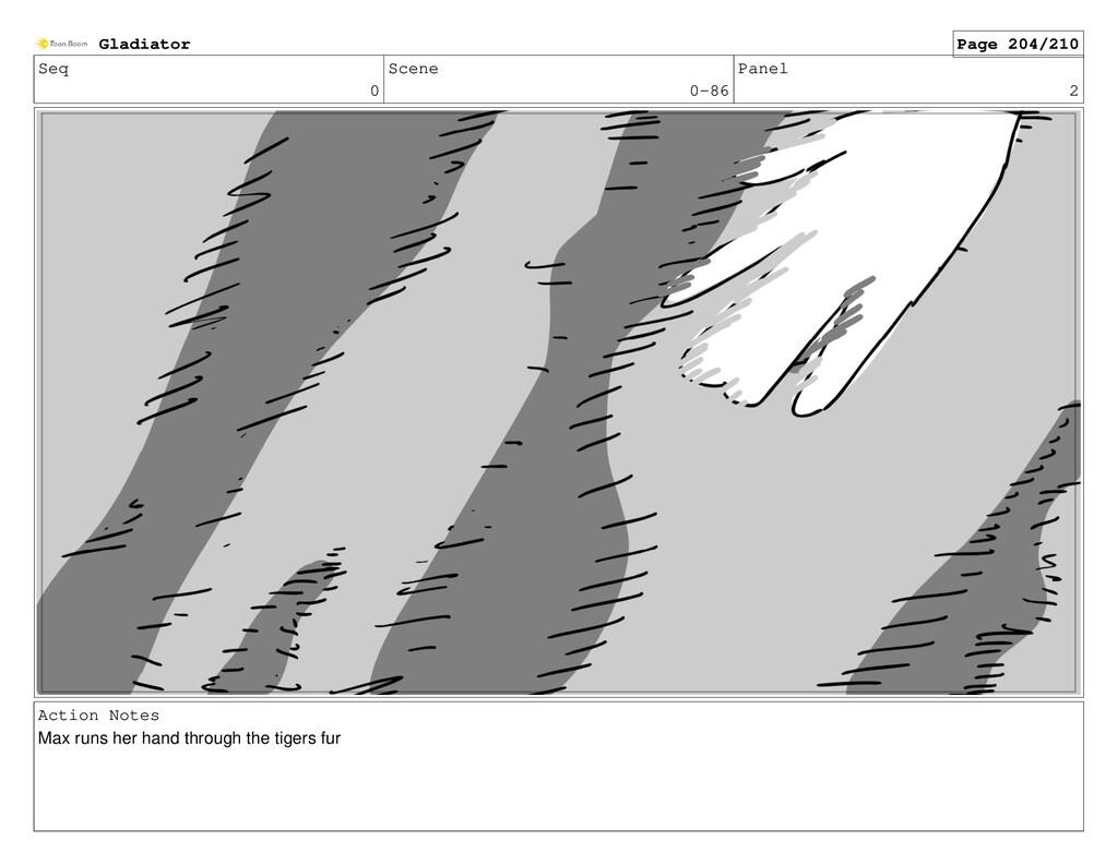 Seq 0 Scene 0-86 Panel 2 Action Notes Max runs ...