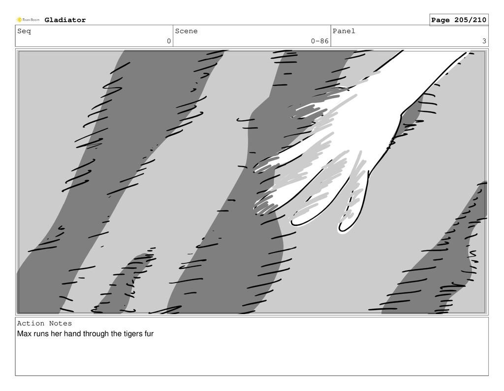 Seq 0 Scene 0-86 Panel 3 Action Notes Max runs ...