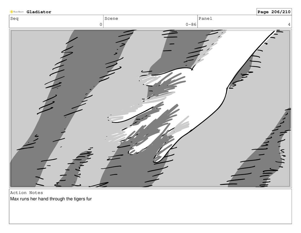 Seq 0 Scene 0-86 Panel 4 Action Notes Max runs ...