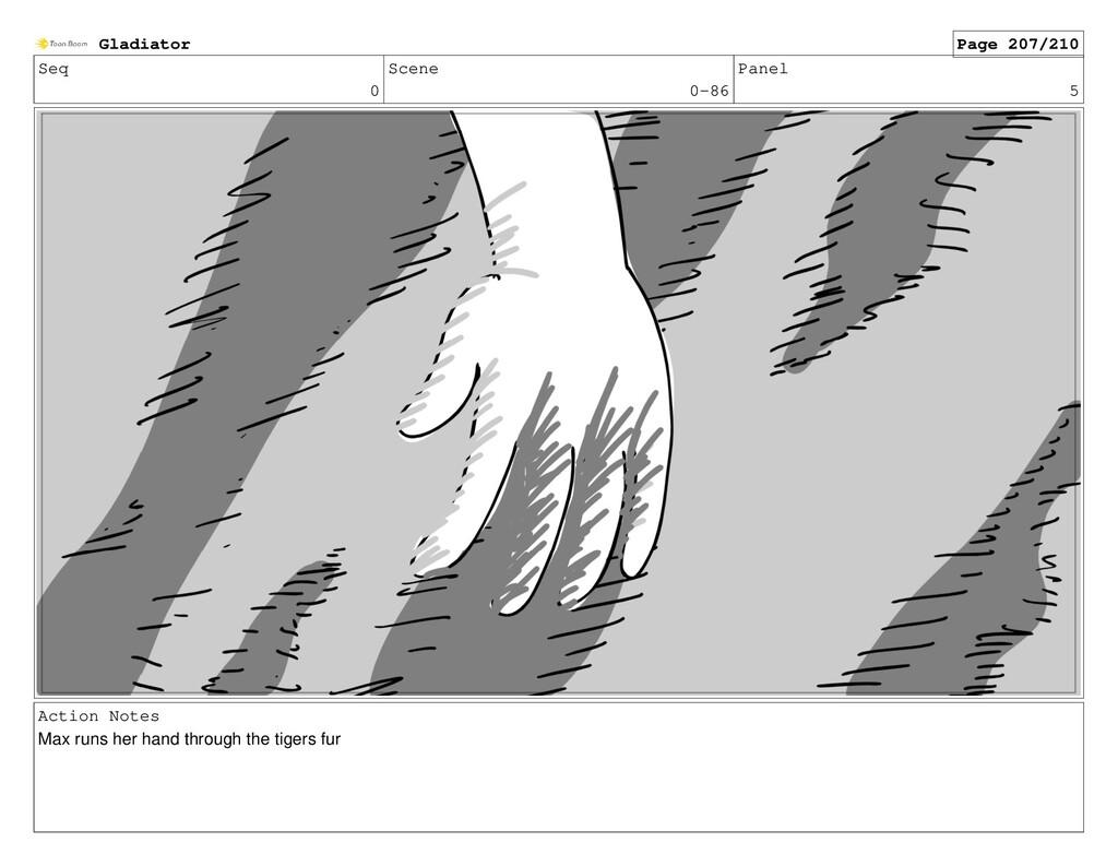 Seq 0 Scene 0-86 Panel 5 Action Notes Max runs ...