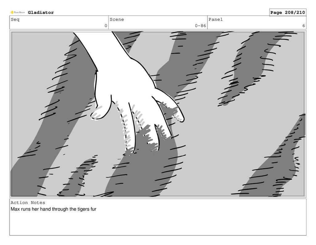 Seq 0 Scene 0-86 Panel 6 Action Notes Max runs ...