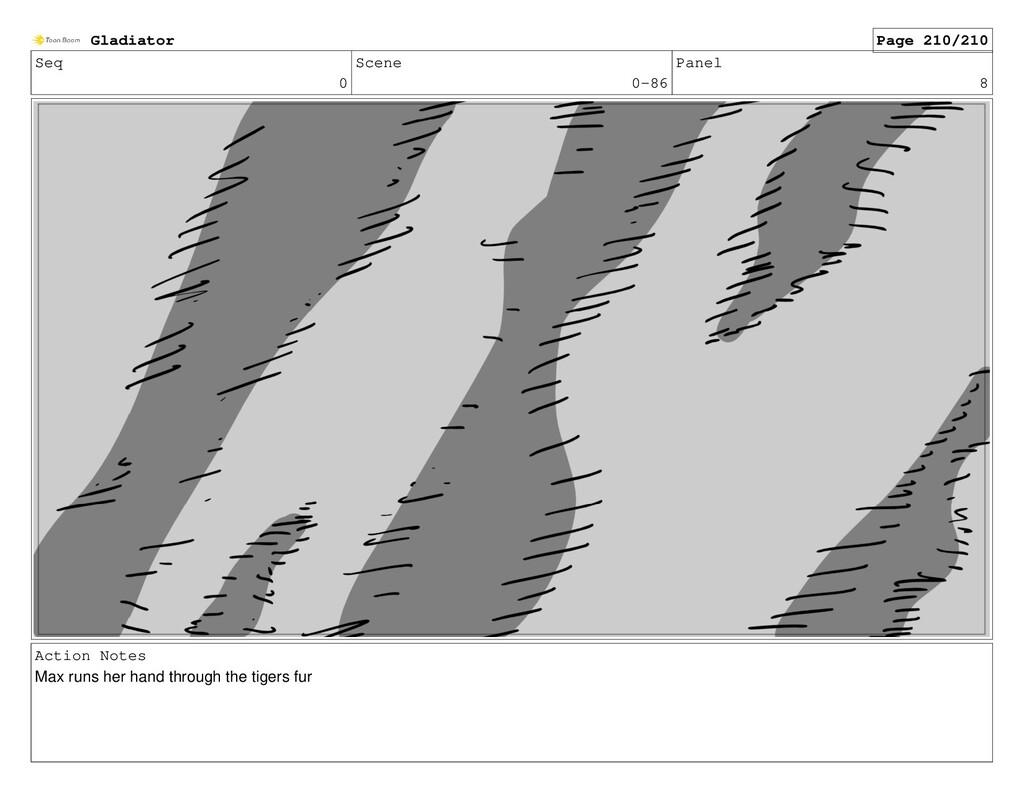 Seq 0 Scene 0-86 Panel 8 Action Notes Max runs ...
