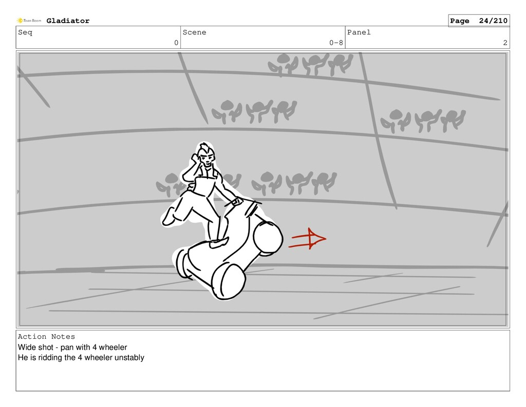 Seq 0 Scene 0-8 Panel 2 Action Notes Wide shot ...