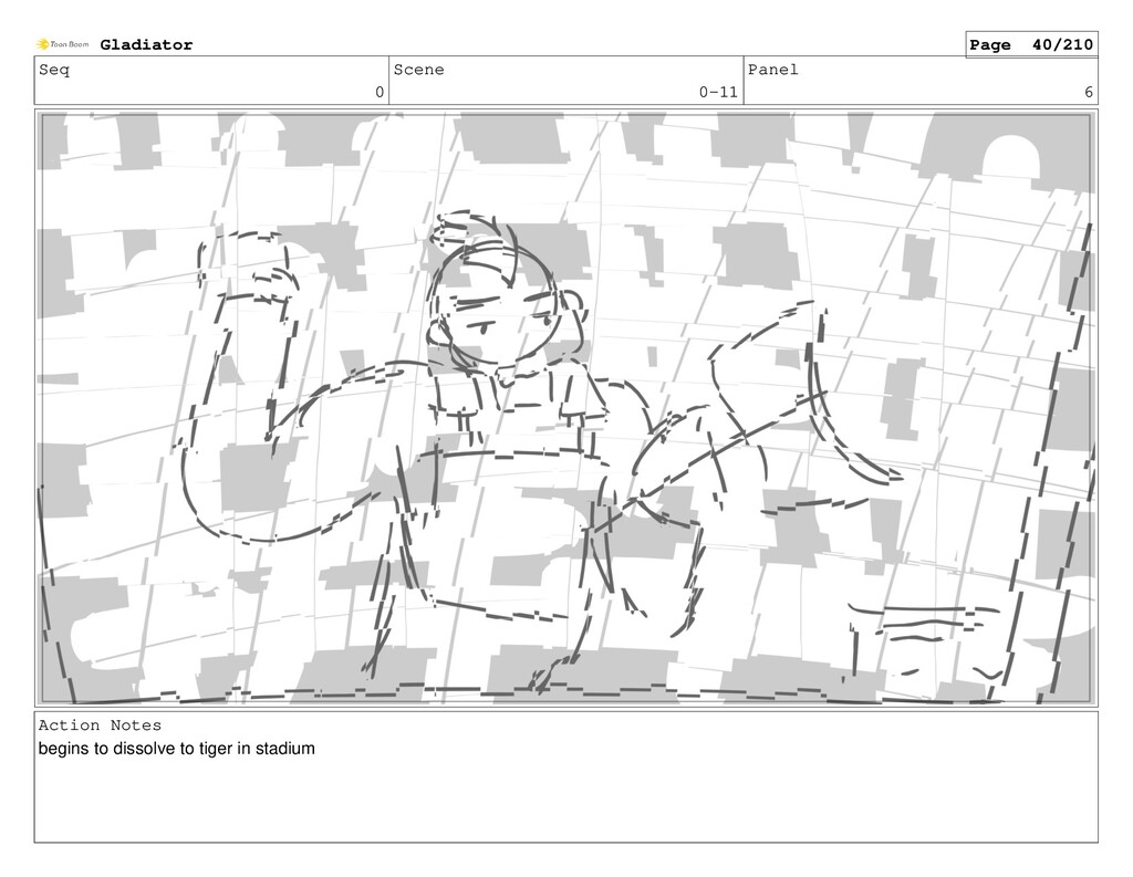 Seq 0 Scene 0-11 Panel 6 Action Notes begins to...