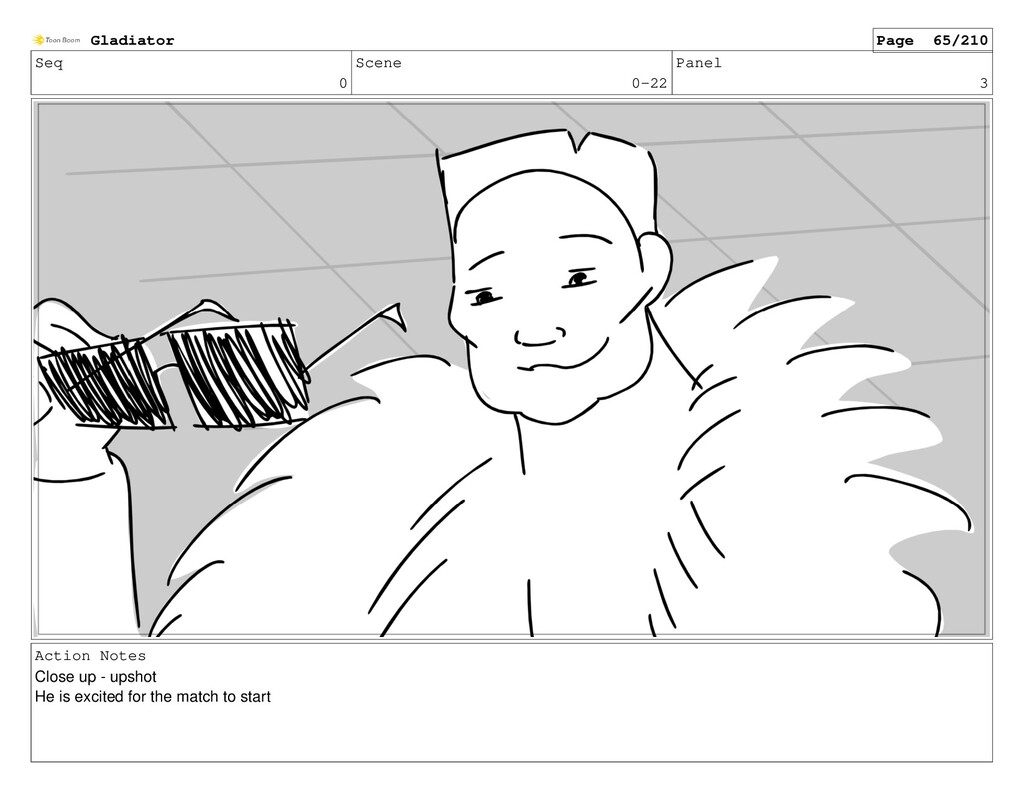 Seq 0 Scene 0-22 Panel 3 Action Notes Close up ...